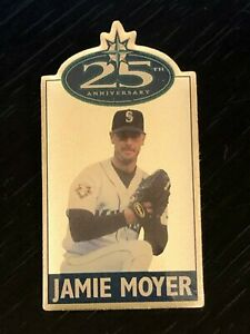 Vintage-Collectible-Seattle-Mariners-Jamie-Moyer-25th-Metal-Pinback-Lapel-Pin