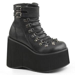 8acbd06d1d2 Image is loading Black-Chunky-Monster-Platform-Sneaker-Boots-Burning-Man-