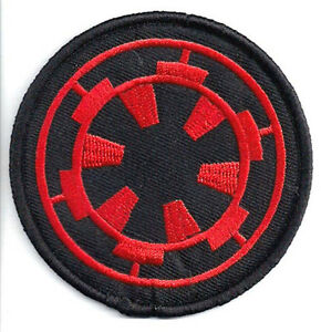 """SWPA-FC-11 USA Mailed Star Wars Stormtrooper Red Cog 3/"""" Embroidered Patch"""
