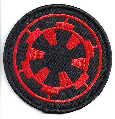 "Star Wars Imperial Cog Logo- Red & Black 3"" Patch- FREE S&H (SWPA-0090)"
