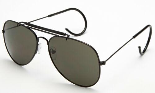 Vintage Metal Aviator Sunglasses Cable Temple Brow Bar Outdoorsman Eyewear