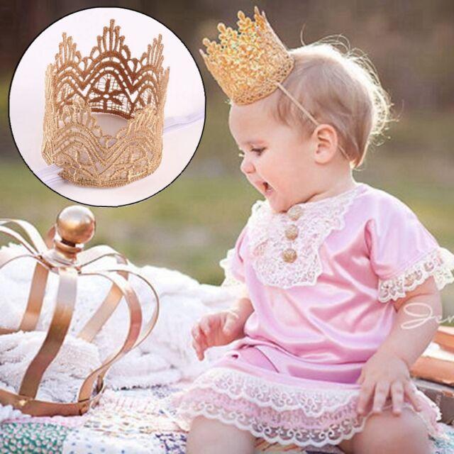 Nettes Baby Große Kronen Stirnband Prinzessin Haarband Tiara Kopfbedeckung IMAX