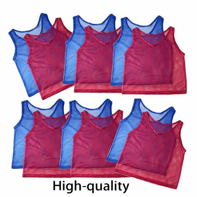 buy popular b9f87 d610f TEENS ADULTS Practice Mesh Scrimmage Jerseys Training Sports Vest Soccer