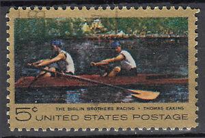 Estados unidos sello con sello 5c remar Sport biglin hermanos pinturas Eakins/4124