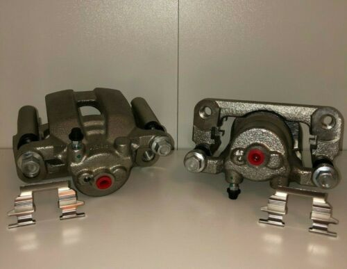 Pair New Rear Brake Calipers for Quest Murano 350Z G35 LIFETIME WARRANTY w// Brkt
