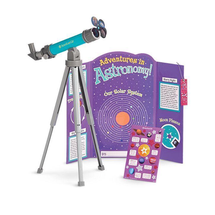✨American Girl Doll SCIENCE FAIR SET TELESCOPE Stars Space New in Box +Catalog