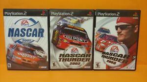 Nascar-2001-2002-2003-Thunder-Racing-PS2-Playstation-2-Race-Game-Lot-Works