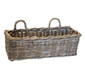 GREY-RATTAN-WINDOW-BOX-BASKET-GARDEN-PLANTER-WALL-HANGING-BASKET-STORAGE-HOME