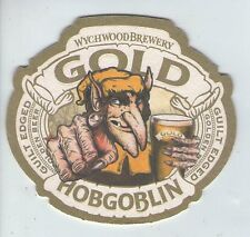 UNUSED BEERMAT - WYCHWOOD BREWERY- GOLD HOBGOBLIN  (Cat 060) - 2016