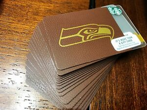 Details about BRAND NEW OFFICIAL 2017-2018 Starbucks SEAHAWKS Gift Card  FREE SHIPPING 12 MAN!