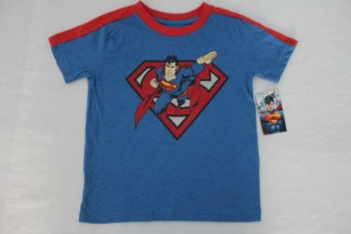 NEW Boys Superman Graphic T Shirt Size 4 Blue Top DC Comics Super Hero Tee