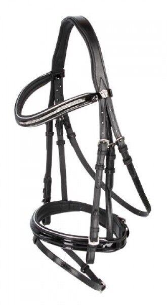 Kerbl 3210487 Trensenzaum Kingston schwarz Pony Tense Tense Tense englisch komb. Modell c98189