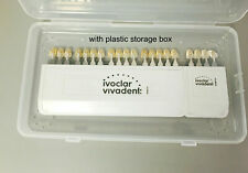 Ivoclar Vivadent Dental Shade Guide 20 Colors Porcelain Teeth With Plastic Box