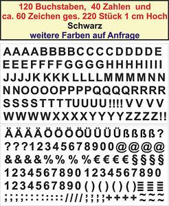 Details Zu Buchstaben Zahlen Zeichen Je 4 Stck 1cm Klebebuchstaben Aufkleber Schwarz