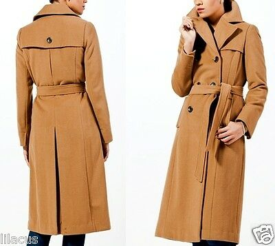 Ellen Tracy Women's Wool Double-Breasted Belted Coat Color Size Available - New