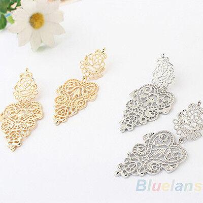 New Stylish Retro Vintage Sweet Womens Silver Golden Bohemian Pierced Earrings