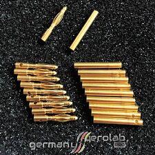 10x Paar 2mm Goldkontakt (Stecker + Buchse) Bananenstecker Banana Goldstecker