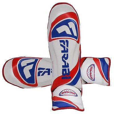 MMA Shin Instep Protector Pads Kick Boxing Protection Adult Size Flame Series