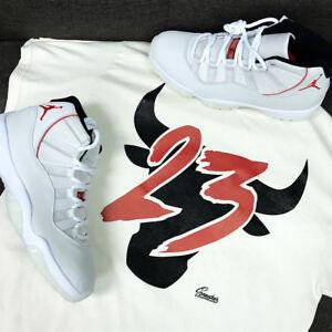 db1f8503f36d Image is loading Shirt-Match-Jordan-11-Platinum-Tint-Sail-Shoes-