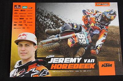 Card Red Bull Ktm 250 Sx-f 2012 #89 Jeremy Van Horrebeek (bel) Mx2 (hw) Goedkope Verkoop