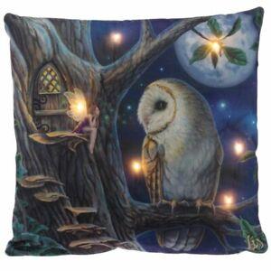 Lisa-Parker-Fairy-Tales-Owl-and-Fairy-LED-Cushion-Brand-New