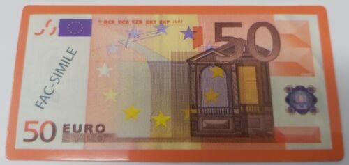100 Fiches cartamoneta banconota fac-simile valore 50 euro PLA50 New