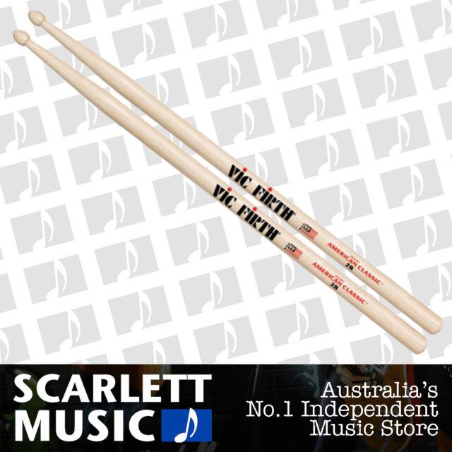 Vic Firth American Classic 2B Wooden Tip Drumsticks ( 2-B Drum Sticks )