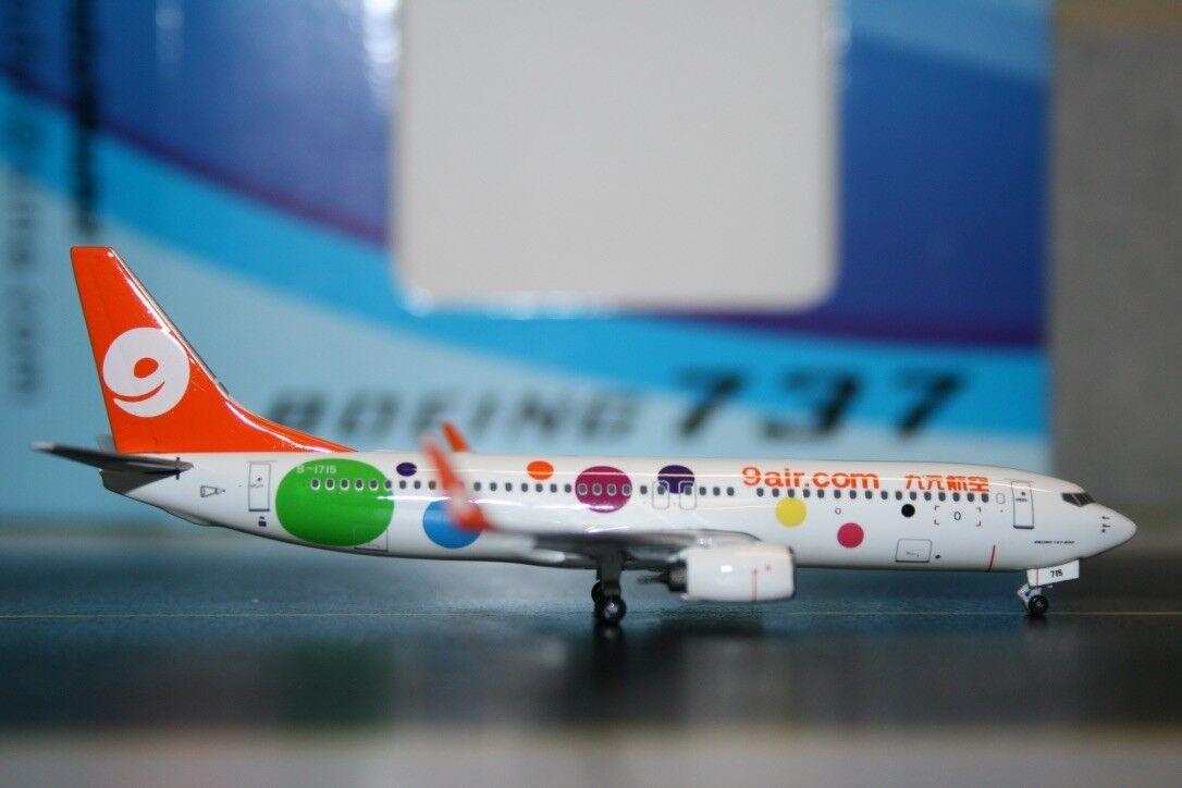 Panda Model 1 400 Jiyuan 9 9 9 Air Boeing 737-800 B-1715 (PM-B-1715) Die-Cast Model e57983