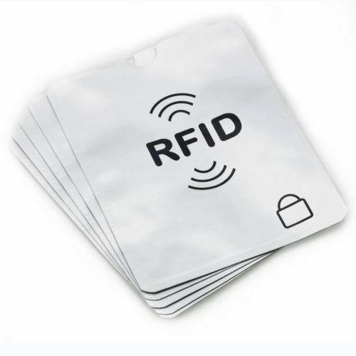 12X RFID Card Blocking sleeve Anti theft Credit Debit Card Protector Sleeve