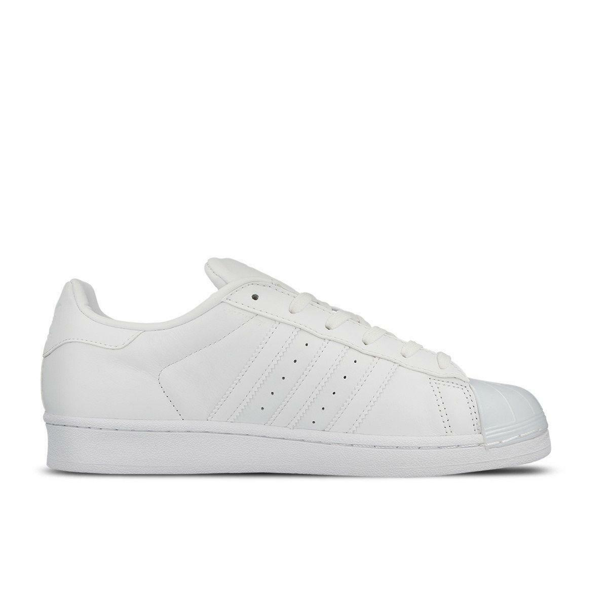 Donna ADIDAS SUPERSTAR GLOSSY TOE W White Pelle Trainers BB0683