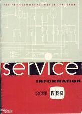 VEB Fernsehgerätewerke Stassfurt DDR Service Information RFT 4 1961 Patriot