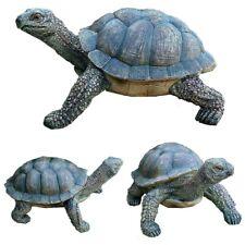 Schildkröte Figur Gartenfigur Reptilien Teich Dekoration Tierfigur Gartendeko