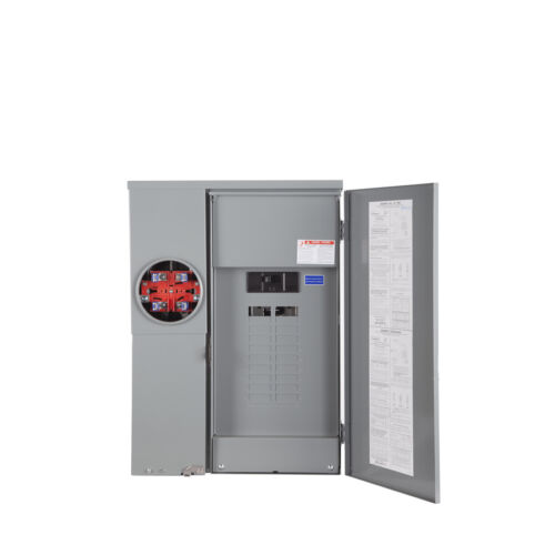Square-D 200-Amp 20-Circuit 40-Space CSED Outdoor Main-Breaker Panel Solar-Ready
