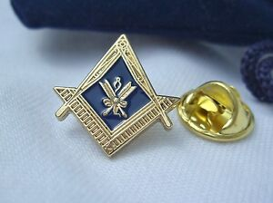 Masonic-Lodge-Officer-Secretary-Crossed-Quills-Jewel-Lapel-Pin-Badge-Plus-Pouch