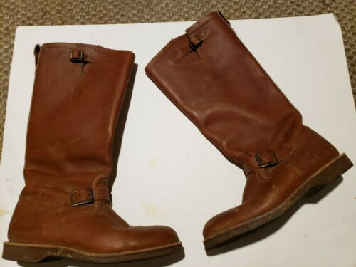 Vintage Chippewa Brown  genuine leather tall Motor