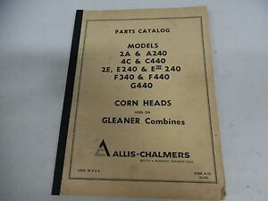 Details about Allis Chalmers Corn Heads used on Gleaner Combines Parts  Manuals