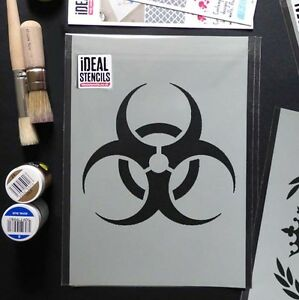 Biohazard-Senal-De-Advertencia-Plantilla-Danger-Arte-Manualidades-Facil-de