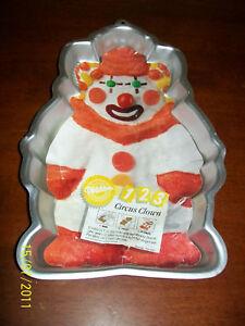 Remarkable Wilton Circus Clown Birthday Cake Pan Tin Mold Ebay Funny Birthday Cards Online Inifodamsfinfo