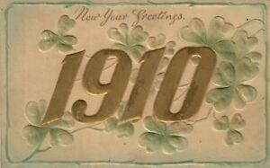 1910-New-Year-embossed-postcard