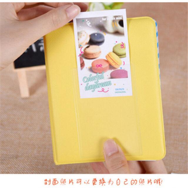 64 Pockets Photo Album Case For Fujifilm Instax Mini8 7s 25 50s 90 Storage Yello