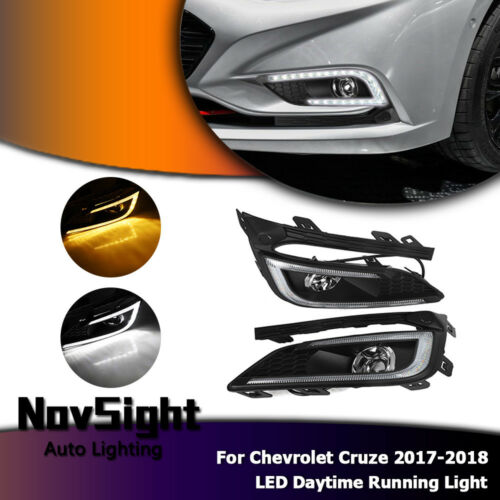 LED Daytime Running Light Fog Lamp DRL For Chevrolet Cruze 2017 2018