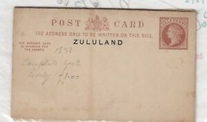 Zululand-QV-1893-Postal-Stationery-With-Reply-Card-Unused-J1723