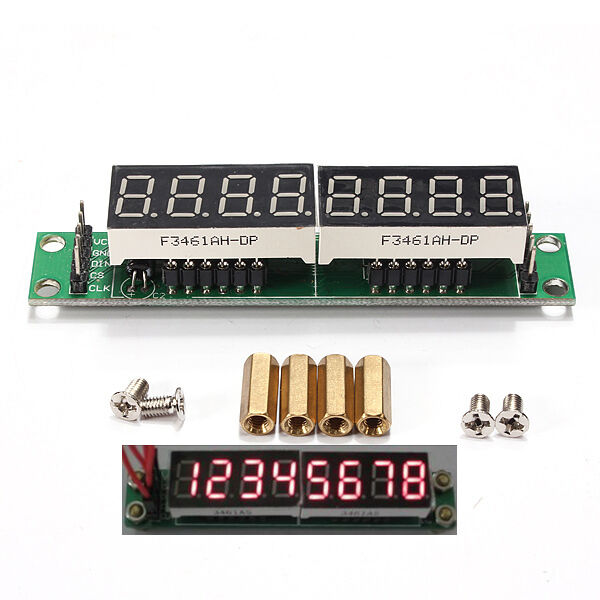 MAX7219 Red Module 8-Digit 7 Segment Digital LED Display Tube For Arduino MCU