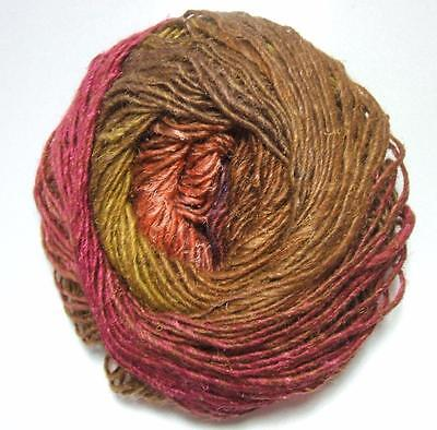 silk mohair wool yarn Browns-Fuchsia-Navy-Denim-Orange :Silk Garden #423: NORO