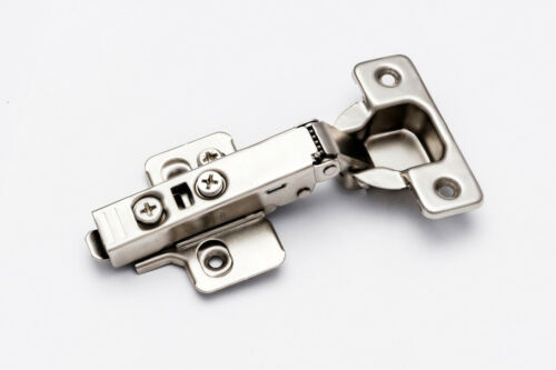 40 Pieces Soft Closing Full Overlay Clip On Frameless Cabinet Door Hinge