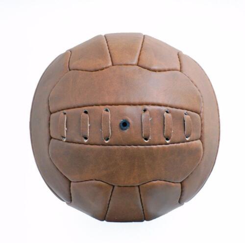 New Vintage Leather-look PU Mini Football size 1 ball Retro style 18 panel FT09