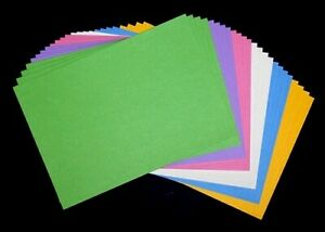 24x Kartenkarton-papier Tonkarton A5, 240g, Frühlingsfarben 412505