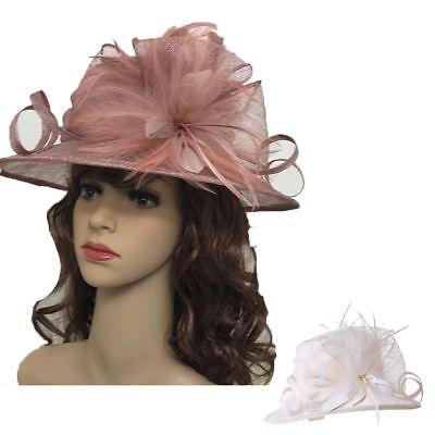Large Sinamay Hat Fascinator Headband clip Weddings Ladies Day Races Royal Ascot
