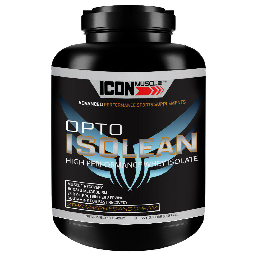 Icon Muscle, Opto Isolean Whey Protein Isolate 5lb, Strawberry