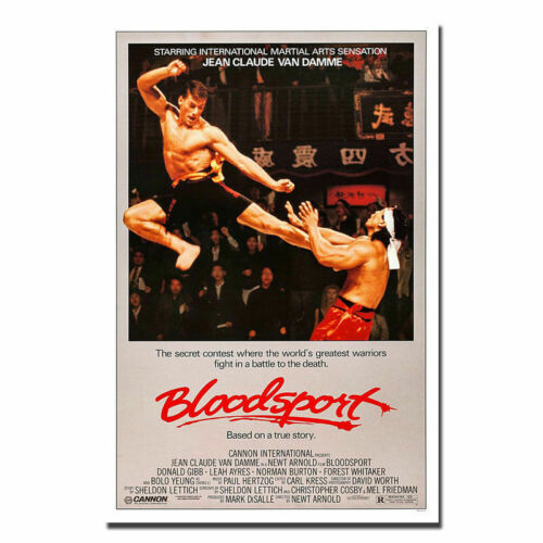 W593 Bloodsport 1988 Classic Movie Film Vintage Retro Poster Wall Silk Art